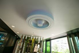 roof mounted bladeless ceiling fan with light modern ceiling