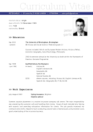How To Write A Simple Resume Example by Simple Curriculum Vitae Template