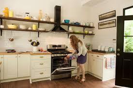 Martha Stewart Cabinet Pulls Dated Kitchen Goes Mod Farmhouse Hgtv