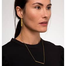 earing model detachable chain back earring medium louise wade jewellery