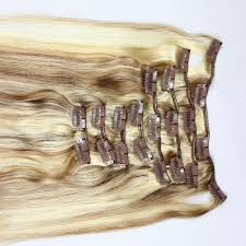 Hair Extension Supplier by P Color Double Drawn Remy Hair Clip In Hair Extensions Zj0033