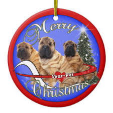 shar pei tree decorations ornaments zazzle