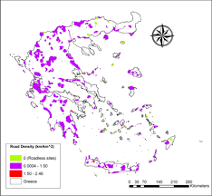Ancient Greece Map Activity by Road Effects On Habitat Richness Of The Greek Natura 2000 Network
