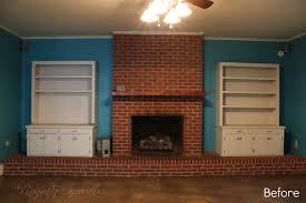 fireplace reptil club brick makeover modern loversiq