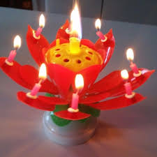 lotus birthday candle 1 4pcs party birthday candle cake topper blossom