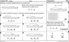 kindergarten number lines excel math using number lines to add and subtract