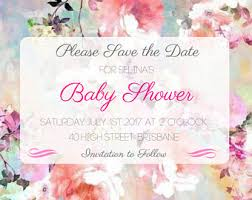 save the date baby shower panda baby shower save the date invitation watercolor floral