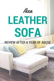 Ikea Kivik Leather Sofa Review The Big White Ikea Leather Sofa Review