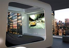 futuristic beds futuristic bed with built in tv movie screen video games