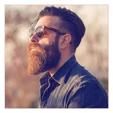 best haircut and undercut with long comb over and thick beard