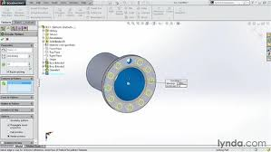 solidworks linear pattern creating a circular pattern