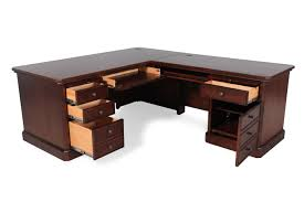 L Shaped Desk With Left Return 72 Traditional Desk With Return In Cherry Mathis Brothers Furniture