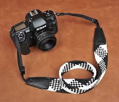 Comfortable Camera Strap Black White Soft Plait National Wind Bohemian Comfortable Camera