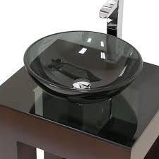 glass bathroom vanity with vessel sink best bathroom decoration