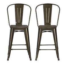 Industrial Metal Bar Stool Dhp Furniture Luxor 24