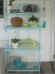Patio Bakers Rack Feature Friday Debra U0027s Colorful Patio Southern Hospitality