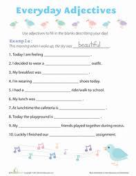 everyday adjectives worksheet education com