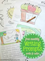 free monthly writing prompts write color writing prompts