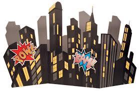 cityscape backdrop comics standup city scape 6 wide birthdayexpress