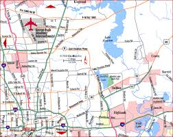 map houston airports road map of metro houston northeast bush int l airport houston