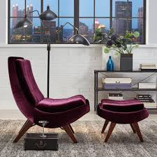 Purple Ottoman by Homesullivan Purple Velvet Chair With Ottoman 40876s350s 3a The