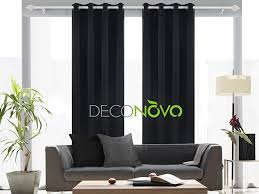 Living Rooms With Curtains Amazon Com Deconovo Solid Grommet Top Curtains Blackout Curtains