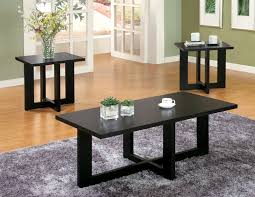 3 piece living room table sets piece occasional table set in black finish by coaster 701503