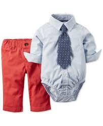 Cute Clothes For Babies Carter U0027s Baby Boys U0027 3 Piece Plaid Bodysuit Pants U0026 Necktie Set