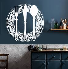 dining room decals vinyl wall decal cutlery dining room decoration kitchen restaurant
