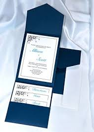 pocket invitation all in one pocket invitation kit navy blue elegance