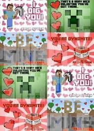 minecraft s day cards minecraft inspired s day cards by ishopamypotts