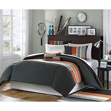 geometric pattern bedding twin xl orange striped comforter set geometric pattern grey black