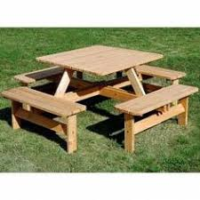 Free Large Octagon Picnic Table Plans Easy Woodworking Solutions by Round Picnic Tables Attached Benches Home Pinterest