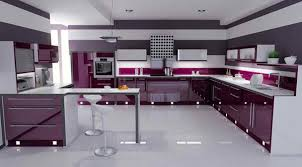 Purple Kitchen Design 15 High Gloss Kitchen Designs In Bold Color Choices Home Design