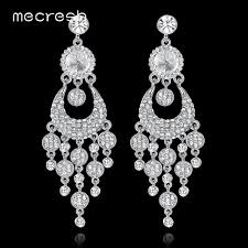 chandelier wedding earrings mecresh chandelier earrings for women wedding