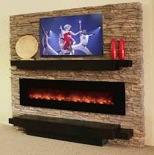 Electric Wall Fireplace Electric Wall Fireplace With Tv Home Design Ideas