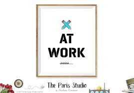 printable art business writers at work sign printable business signage instant download