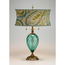 lucia table lamp 79s82 by kinzig design colors turquoise blue