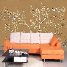 compare prices on bird wall coverings online shopping buy low natural bird singing tree 3d room embossed wallpaper roll for 3d bedroom wall paper background non
