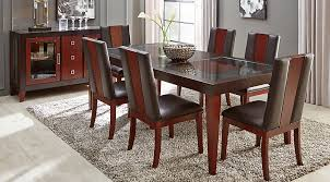 rectangle table and chairs sofia vergara savona chocolate 5 pc rectangle dining room dining