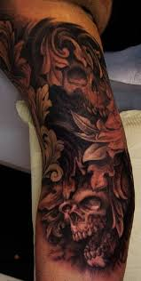 baroque skull part 2 by scottso tattoonow