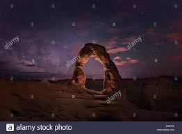 Light Painting Landscape Photography by Delicate Arch Rock Formation Light Painted At Night In Arches