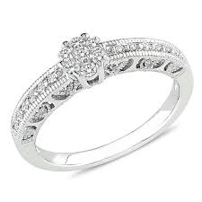silver diamond rings sterling silver diamond engagement ring engagement rings