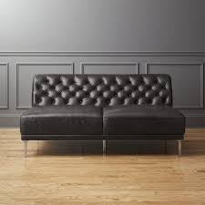 Wood And Leather Sofa Leather Sofas Cb2