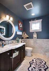Nautical Bathroom Decor Ideas Color Of The Month Decorating With Navy Nautical Bathrooms