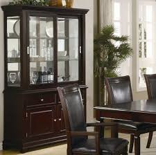 dining room buffet with glass doors