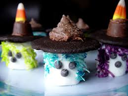 marshmallow witches for a halloween kids treat halloween food