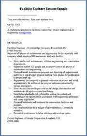 Maintenance Resume Examples by Facility Engineer Sample Resume 22 Maintenance Engineer Resume