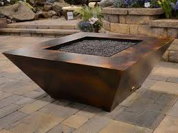Gas Firepit Kit Gas Pit Kits With Travertine Tiles Ideas And Square Shaped