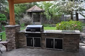 outdoor kitchen built in bbq ret wall landscape pinterest